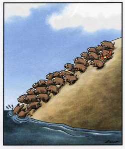 (Cartoon by Gary Larson)