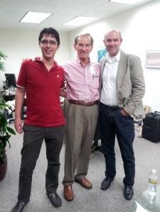 Jordi, Linden Blue (co-owner of General Atomics), and Chris
