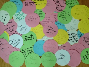 Contributions during the World Cafe