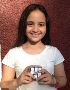 Olivia & her Rubik's Cube